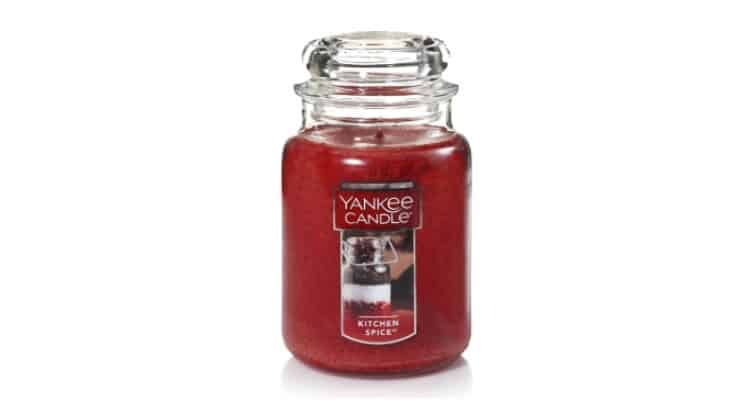 Yankee Candle Kitchen Spice offers a comforting blend of kitchen ingredients that include cinnamon, ginger, and clove.