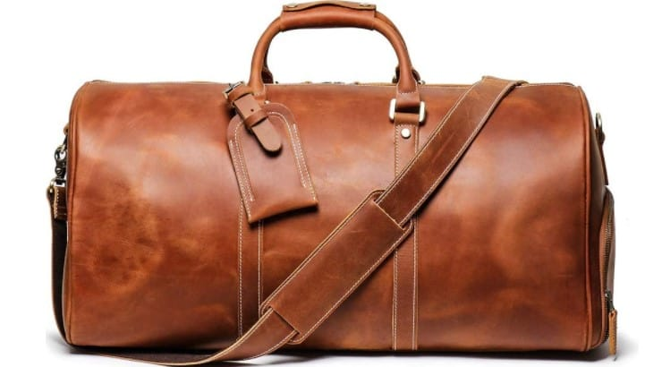 Weekender bags are typical for men who often travel for work.
