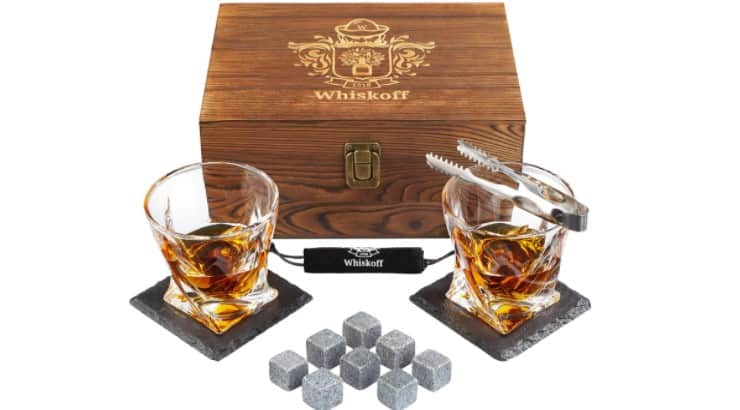 A whiskey drinking set is a quality gift that isn't exclusive to whiskey drinkers.