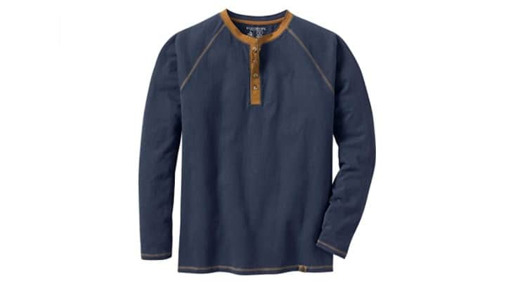 A Henley shirt is a great polished but casual gift to give dads and fathers-in-law.