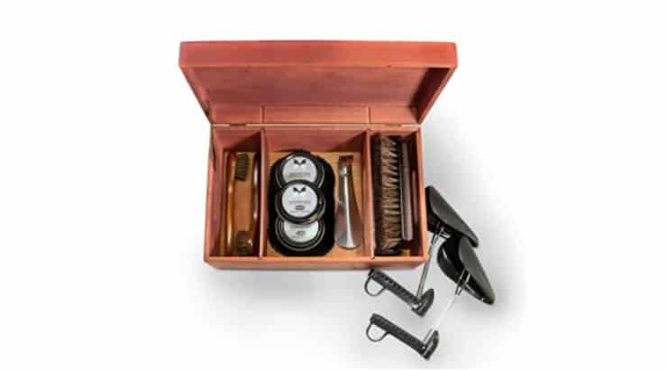 A shoe shining kit is a great gift for men who like to see their reflection in their shoes.