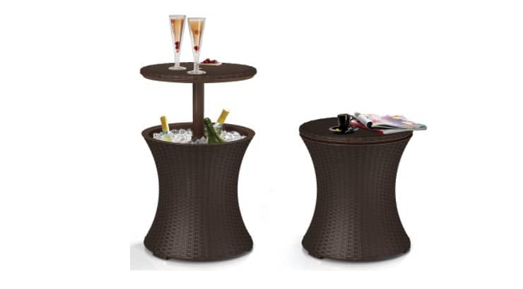 While many use regular coolers, this cool bar adds a sophisticated touch to any outdoor area.