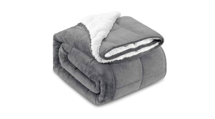 Weighted blankets are known to help with anxiety-riddled sleep.