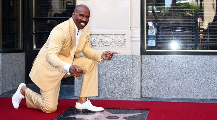 """While Steve Harvey currently hosts his morning radio show, he also hosted his talk show """"Steve Harvey"""" from 2012 to 2017."""