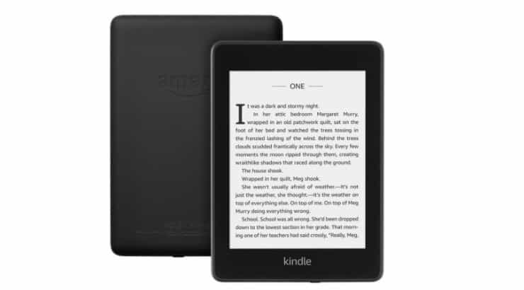A Kindle Paperwhite is a great, waterproof device that allows the user to read anywhere they are.