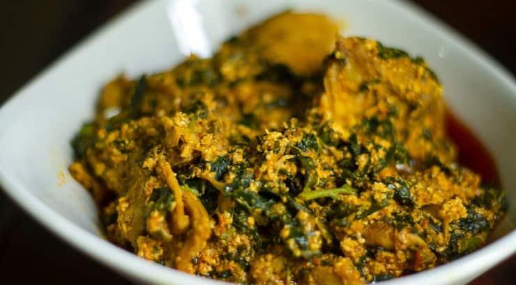 Egusi soup is a popular celebratory dish eaten in Western Africa.
