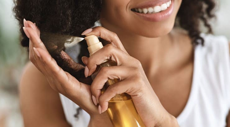 Heat protectants are products that protect the hair from being damaged by high temperatures often caused by hot tools.