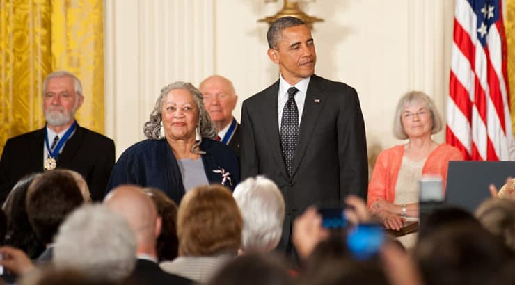 Toni Morrison was awarded the Presidential Medal of Freedom in 2012 by President Barack Obama.