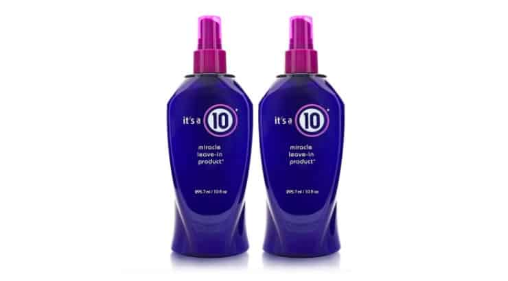 It's a 10 Leave-In Conditioner also serves a great heat protectant and contains green tea leaf extract, silk amino acids, and vitamin C.