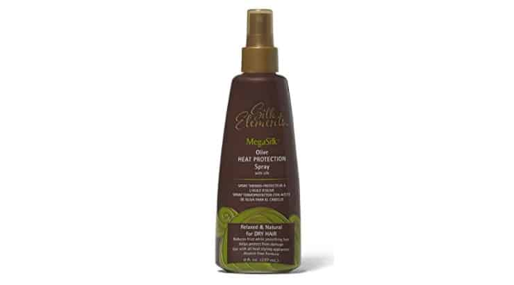 The MegaSilk Olive Heat Protection Spray can be applied on both damp or dry hair.