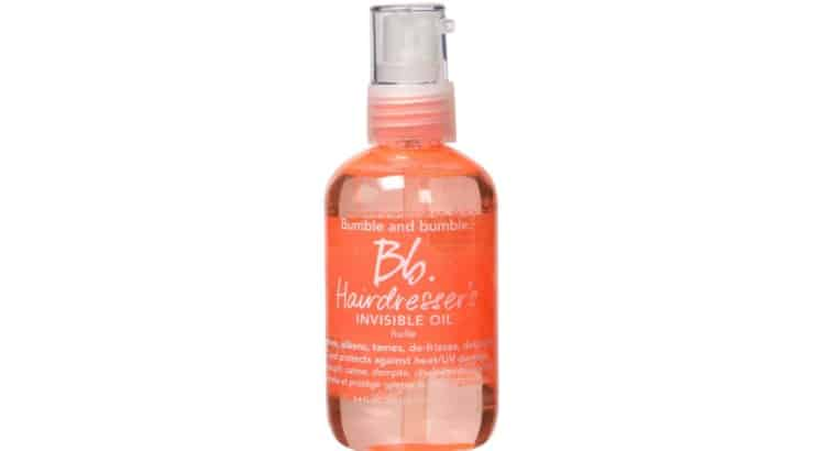 Bumble & Bumble's Invisible Oil Heat & UV Protective Primer detangles, softens, and adds shine while also protecting against heat from hot tools.