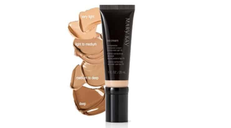 The Mary Kay CC Cream Sunscreen Broad Spectrum SPF 15 is available in five shades that will help color correct the skin.