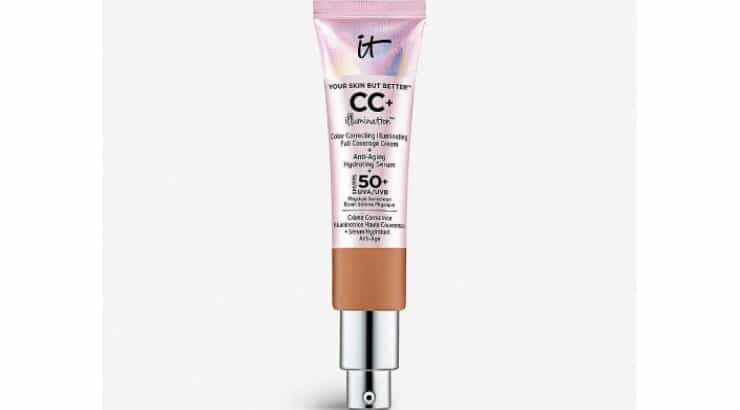 The IT Cosmetics Your Skin But Better CC+ Cream with SPF 50+ was formulated by the brand, as well as plastic surgeons, to transform the skin.