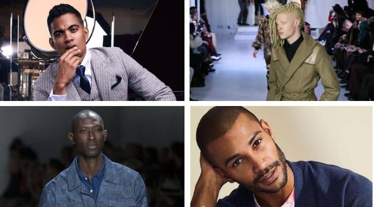 Black male models are still few and far between in the fashion industry.
