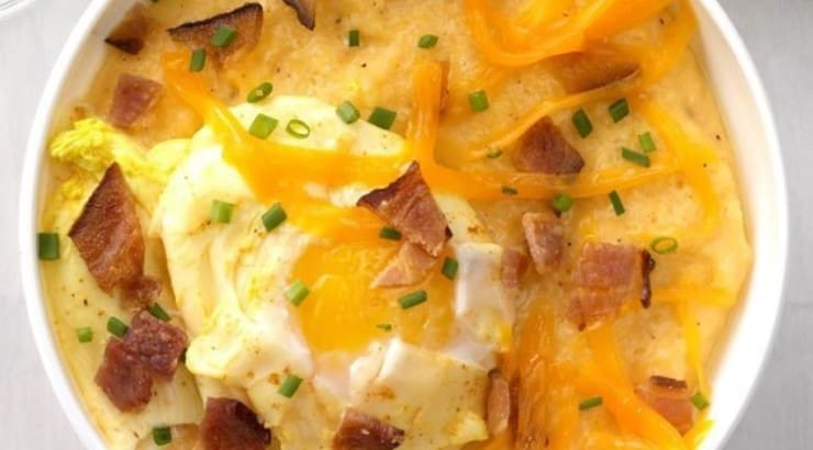 Taste of Home offers another cheesy grit alternative that features poached eggs.
