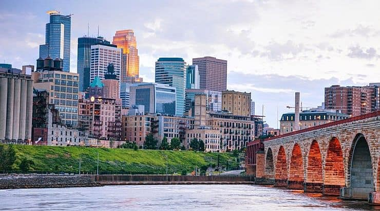 Minneapolis is a city that is bustling with arts and culture while having neighborhoods quiet enough for retirees.