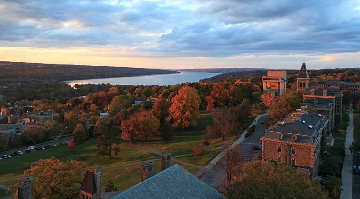 Ithaca, New York, is known for its great scenery that include an abundance of parks and waterfalls.