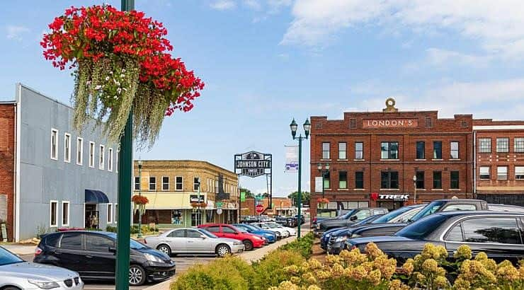 Johnson City, Tennessee has a large older population with 38.4% being 45 and older.