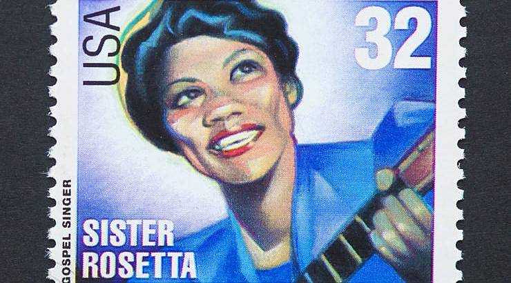 Sister Rosetta Tharpe was a pioneer for black women guitarists.