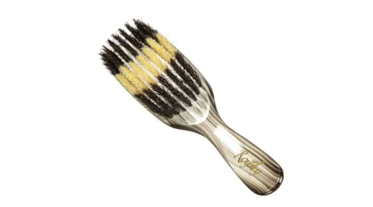 The Brush King 360 Waves OG Classic Torino Pro brush features both hard and soft bristles.