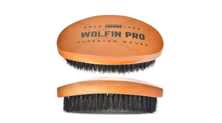 The Wolfin Pro Premium brush is designed for men who have let their hair grow out to create deeper waves.