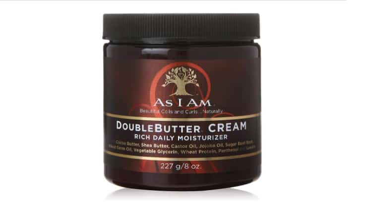 The As I Am Double Butter Rich Daily Moisturizer softens hair and helps make it look shinier.
