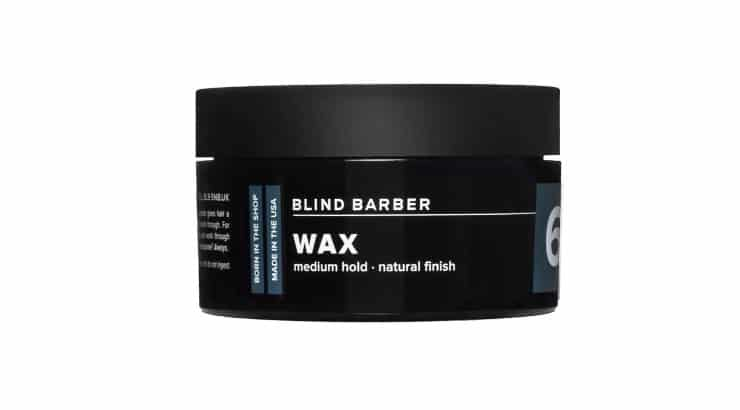 The Blind Barber 60 Proof Wax offers medium hold and a natural finish.