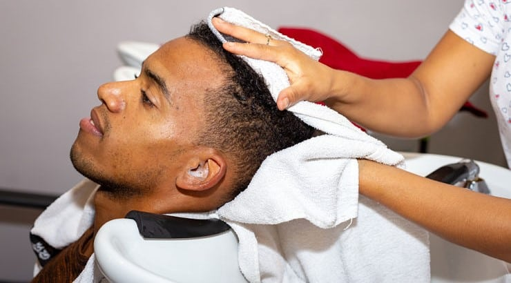 The safest and healthiest method to dry hair is to let it dry naturally.