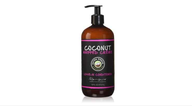 Renpure Coconut Whipped Cream Leave-In Conditioner is a moisturizing product that makes it easier to detangle hair.