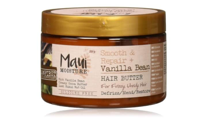 Maui Moisture Smooth and Repair Vanilla Bean Hair Butter is made with kukui nut oil - an ancient Hawaiian ingredients that has humidity resistant abilities.