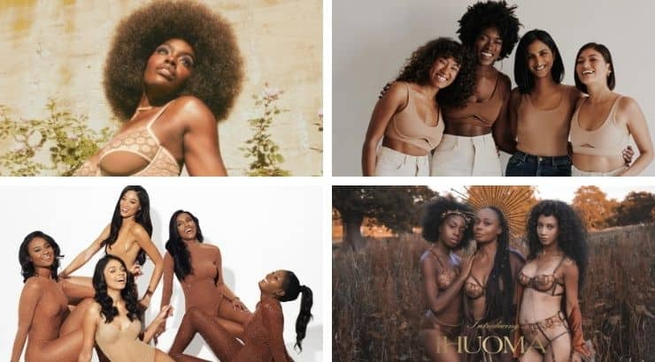 Black-owned lingerie brands are leading the pack in inclusivity when it comes to skin tone and size.