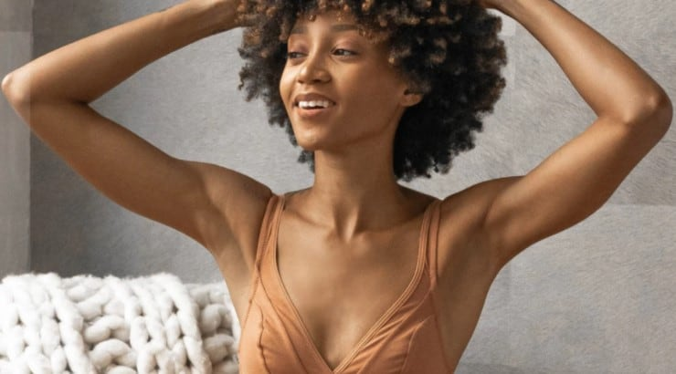 Nubian Skin carries bras, panties, camisoles, and bodysuits for women with brown skin.