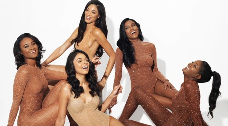 D.bleu.dazzled is a Black-owned lingerie brand that is known for their bedazzled catsuits.