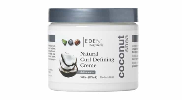 The EDEN BodyWorks Coconut Shea Curl Defining Cream contains both coconut oil and shea butter.