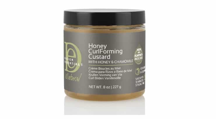 Design Essentials Natural Honey Curl Forming Custard works great with twist outs, braid outs, bantu knots, and more.