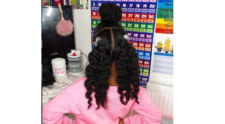 Twist outs or braid outs are better defined when they have been left to dry.