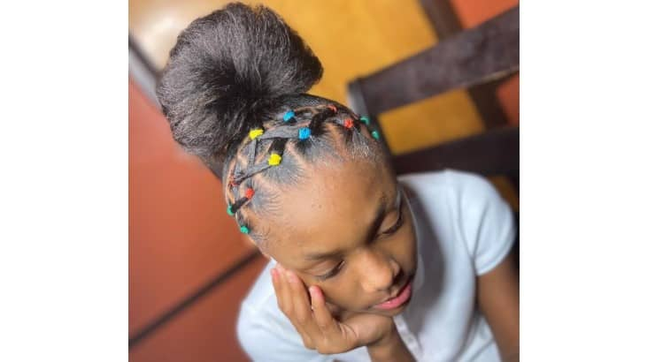 One way to play around with hairstyles for little Black girls is through the hair accessories one adds to a look.