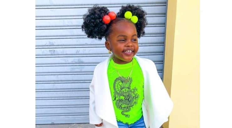 Afro puffs are a cute way to show off the texture of Black hair.