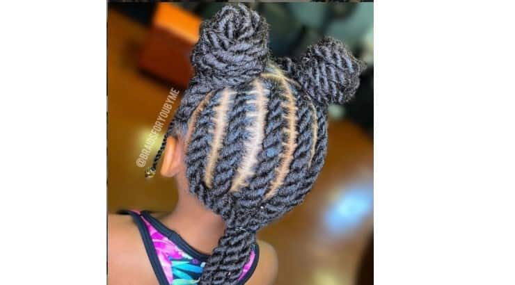 Combining different hairstyles into one is a great way at switching up common hairstyles.