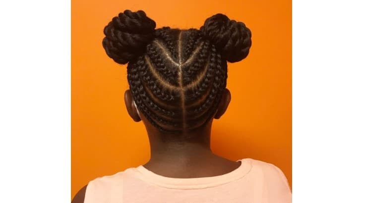 Space buns are a fun and common alternative to ponytails.