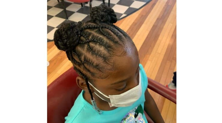 Cornrows or flat braiding is a common way to create designs against the scalp.