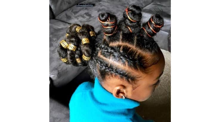 Adding rubber bands and beads to braided hairstyles is one way to make the look more fun.