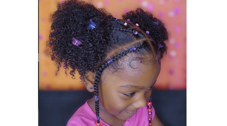 Braids are often used to enhance natural styles.