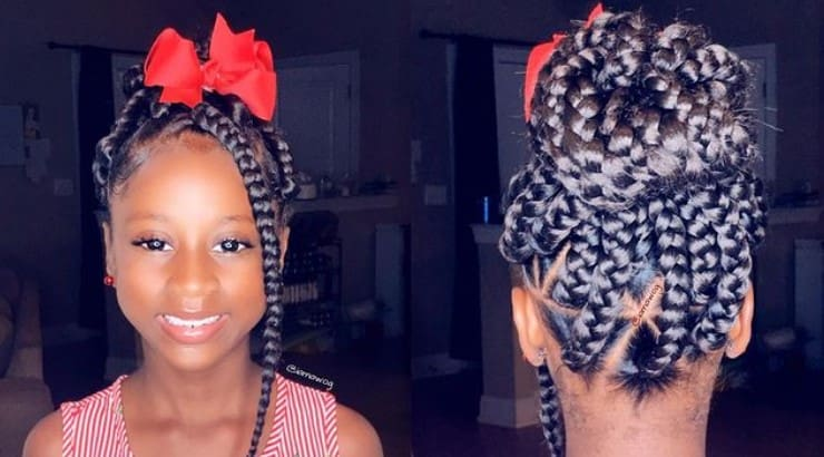 Box braids are a common and versatile style for black girls and women.