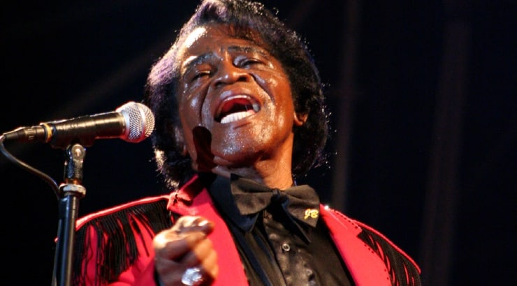 James Brown, on of the best black male singers of the 70s